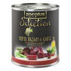 zooplus Selection Adult, wołowina, bażant i gęś
