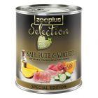 zooplus Selection com vitela, peru e codorniz - Edição especial