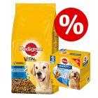 Zum Sonderpreis! 13 kg Pedigree Trockenfutter + Dentastix Hundesnacks