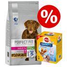 Zum Sonderpreis! 6 kg Perfect Fit Hundefutter + Pedigree Dentastix