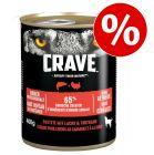 Zum Sonderpreis! 6 x 400 g Crave Adult Hundefutter