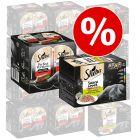 Zum Sonderpreis! 48 x 85 g Sheba Varietäten Schälchen + 48 x 37,5 g Perfect Portions Rind